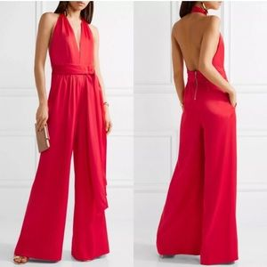 Rachel Zoe | Sexy Satin Crepe Red Jumpsuit